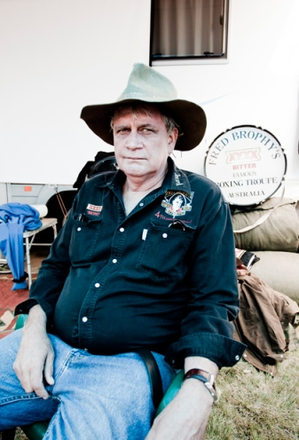 Fred Brophy, the man behind the tent. Photo Credit: Dean Saffron, via Australian Geographic
