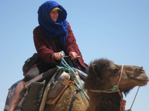 Look guys: I'm totally riding a camel into the Sahara. Lol.